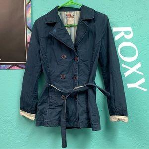 ROXY WOMEN'S NAVY BLUE COAT SIZE SM/P